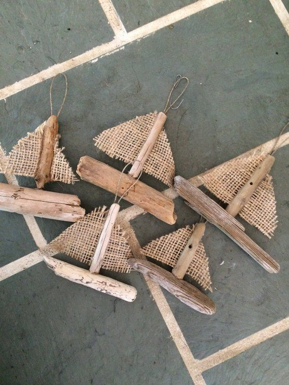 Driftwood Sailboat Ornament