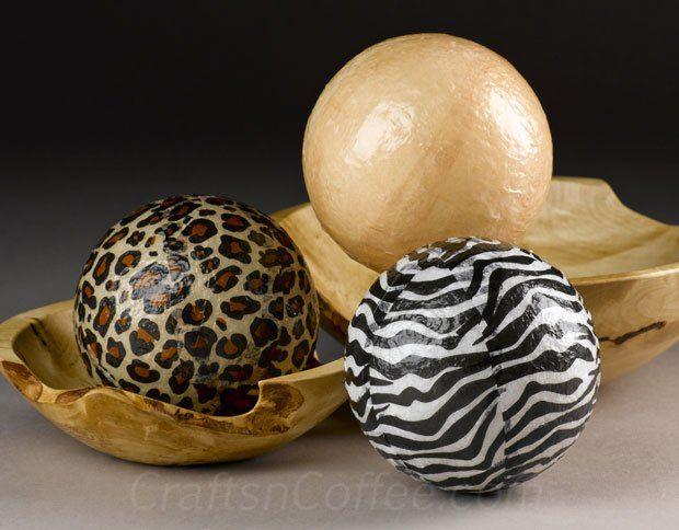A wildly easy home dec accent: DIY Safari Deco Spheres | Crafts 'n Coffee