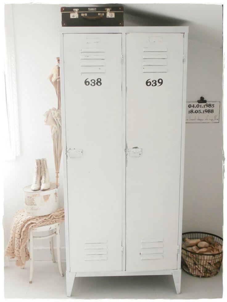industrial locker in bedroom