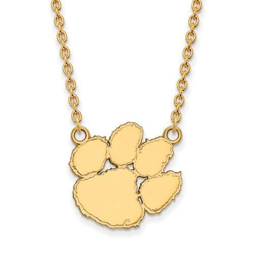 10k+Yellow+Gold+Clemson+University+Large+Pendant+w/+Necklace+1Y016CU-18 #clemson