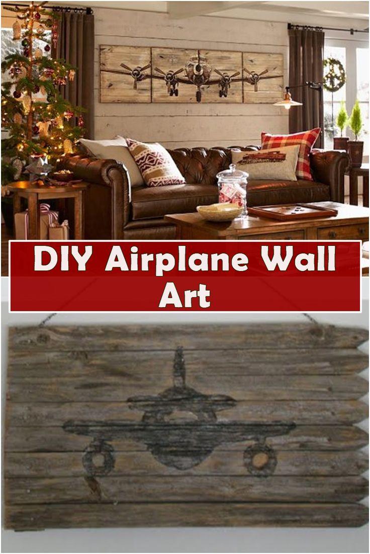 DIY Airplane Wall Art Airplane wall art, Wall art, Wall
