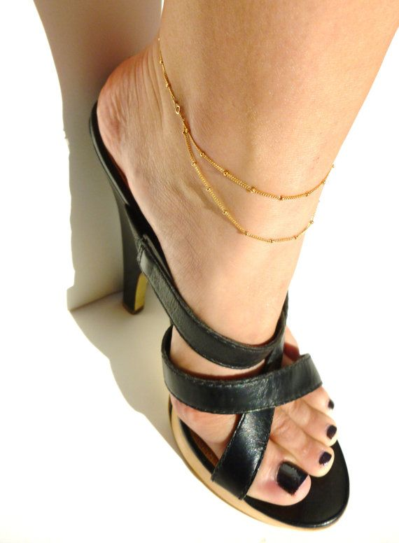 Anklet 14kt Gold Filled Chain Ankle Jewelry Indian by AylinMadden
