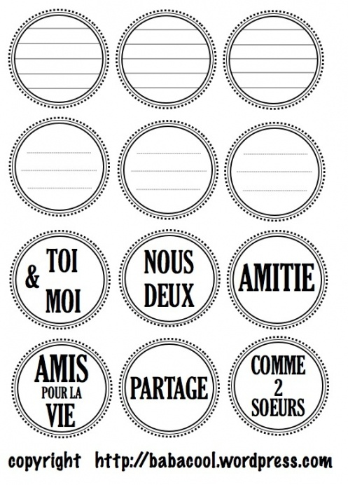 Bien connu 144 best Étiquettes Scrap' images on Pinterest | Words, Bullet  VJ12