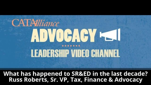View briefing note: http://tinyurl.com/yc4o5zck    In this video, Russ Roberts, CATA's Sr. VP, Tax, Finance and Advocacy talks about what has happened to SR&ED tax credits in the last decade and some of the causes of this dramatic reduction of innovation support in Canada.    Between 2009 and 2015 the aggregate tax credits delivered by the CRA (Canada Revenue Agency) has gone down by 5.3 billion dollars, and the Department of Finance now forecasts a 15 percent downward revision in SR&ED…