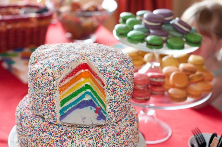 Le gâteau de Rainbow Bright!