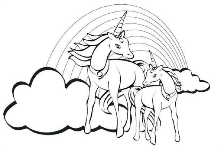 Crayola Unicorn Coloring Pages - Tedy Printable Activities