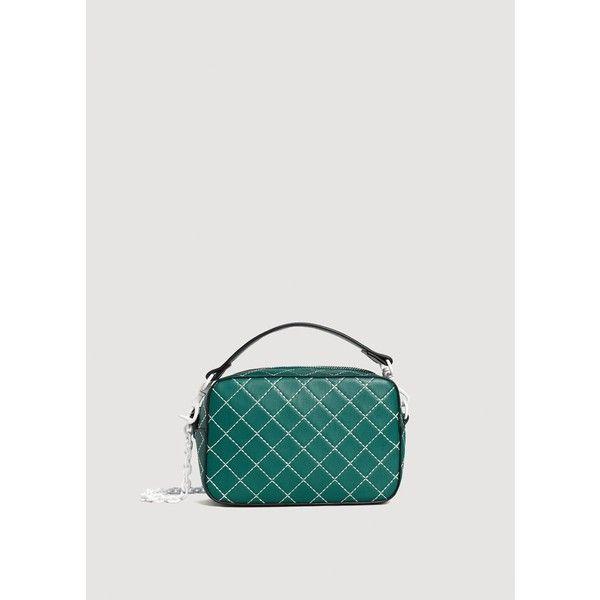 MANGO Seam cross-body bag (2.850 RUB) ❤ liked on Polyvore featuring bags, handbags, shoulder bags, mango handbags, cross body, crossbody shoulder bag, cross-body handbag and mango purse