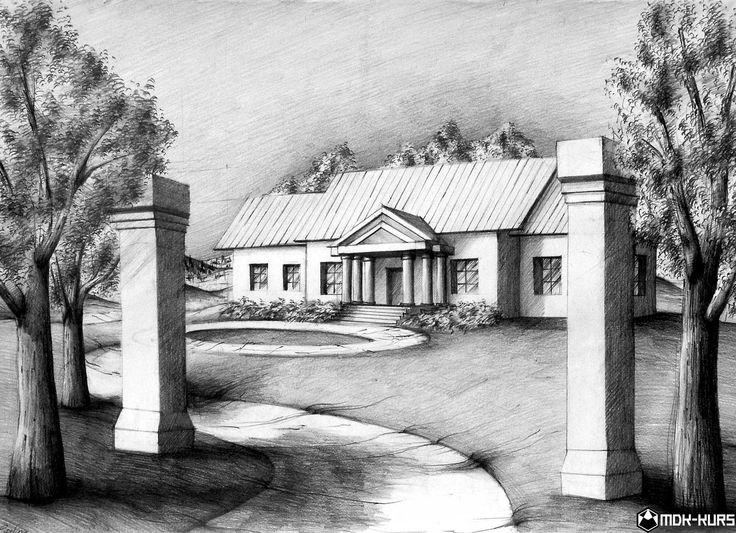 Architektura Rysunki architektury z kursu rysunku