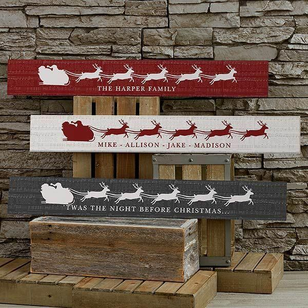 Christmas In Woods 2020 Nostalgic Noel Personalized Wooden Sign in 2020   Christmas signs