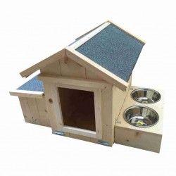 Cuccia in legno per cane da tartufo
