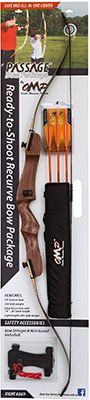 """OCTOBER MOUNTAIN PRODUCTS 17 OMP Passage Recurve Bow Package 54"""""""" 20# Left Hand, EA"""