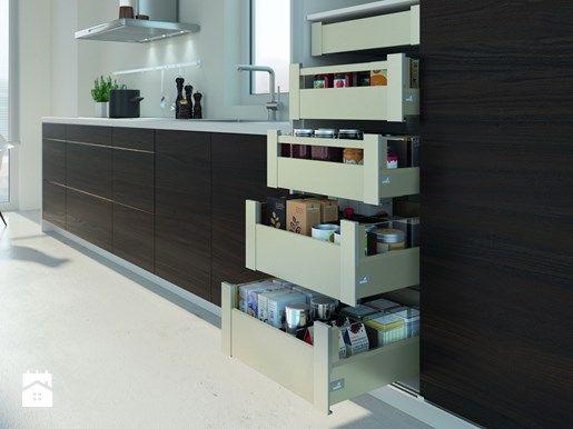 Tylko dla wtajemniczonych: kuchnia z komfortowym wnętrzem Hettich - Homebook.pl