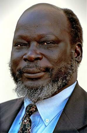 Former Vice President John Garang de Mabior of South Sudan (died July 2005)