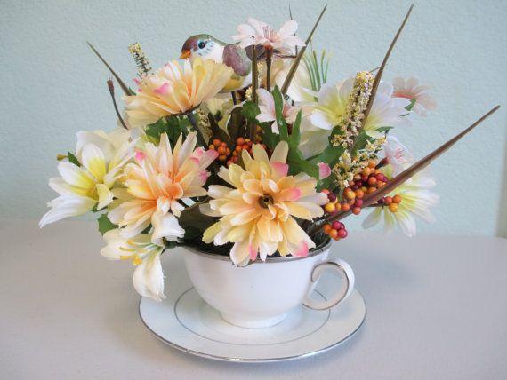 55 Best Teacup Arrangements Images On Pinterest