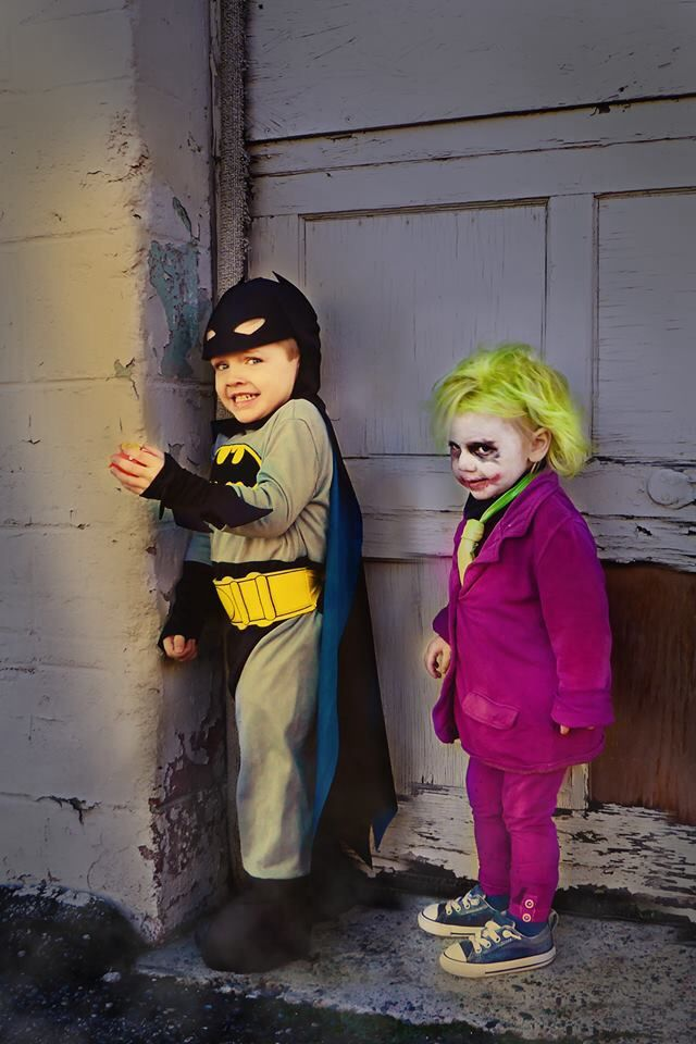 batman and joker kids costume - Joker Halloween Costume Kids