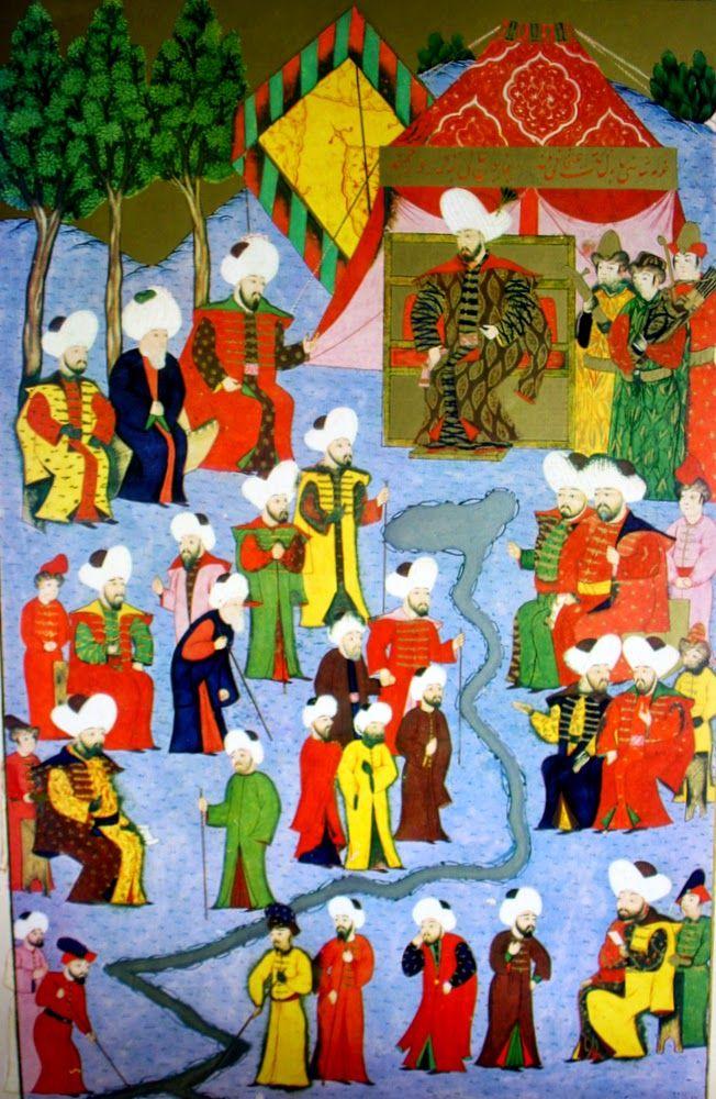 Osman gazinin hükümdar olması, Hünername - Mehmed bey minyatürleri.