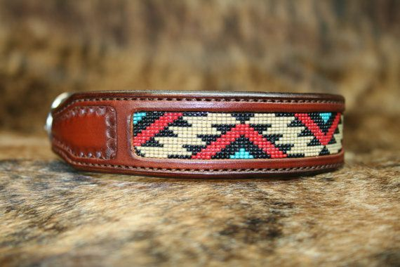 Beaded Dog Collar by swdistinctions on Etsy, $80.00