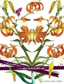 botanicus tiger lily plant nature watercolor Masha D'yans