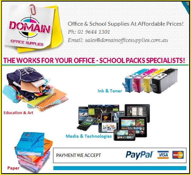 Domain Office Supplies stands proudly among the leading school furniture suppliers, office furniture suppliers and whiteboards suppliers in Australia. Domain Office Supplies is a one-stop destination for bulk office supplies, corporate stationery, school supplies and the likes.