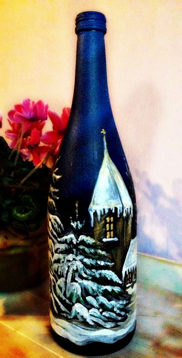 82 best deko bottles hand painted gifts my works images for Hand painted bottles