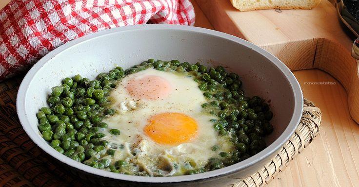 Uova e piselli, un secondo piatto pratico e leggero
