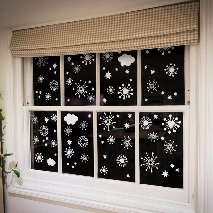 Best Christmas Decor Images On Pinterest - Snowflake window stickers amazon