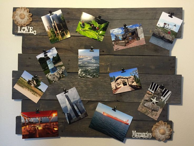 Picture board, memory board, Picture collage, Photo board, collage picture frame, Memory boards, Wooden wall decor, Wall decorations by CraftedSimplyInc on Etsy