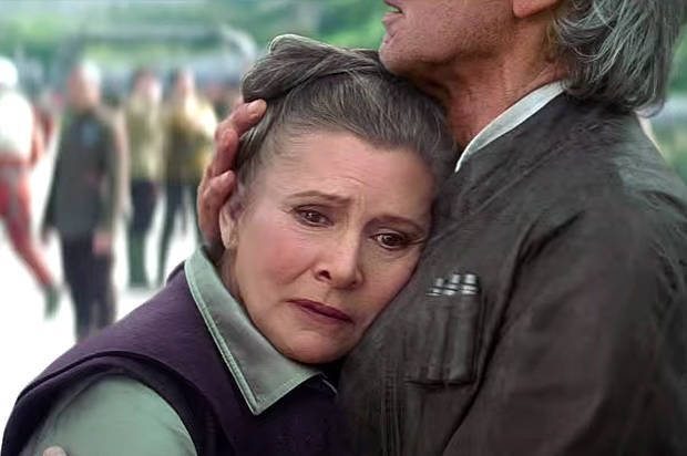"""""""Star Wars"""" lets Princess Leia age realistically: Is this an alternate Hollywood universe? (Aside from the article, this image just gives me All. The. Feels. I waited so long to see this couple married and older on the big screen.)"""