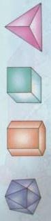 Un poliedro cualquiera tiene: caras, aristas, vértices, ángulos.