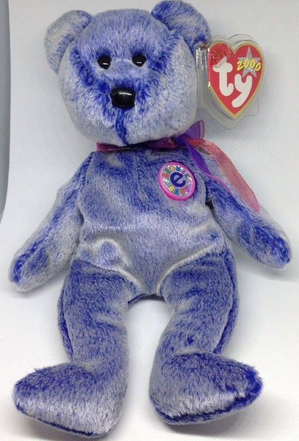 0b64b4b37ca Ty beanie baby Periwinkle bean bag plush teddy bear stuffed animal toy  Ty