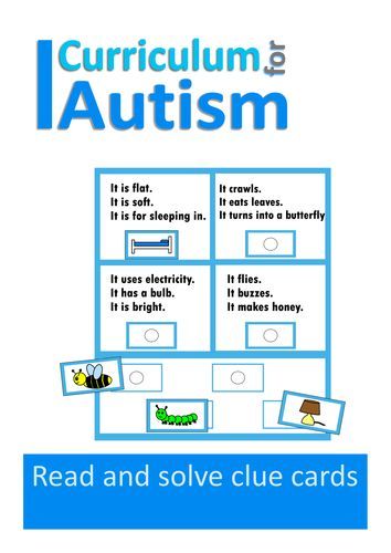 Autism and Special Education Reading Comprehension Clue Cards
