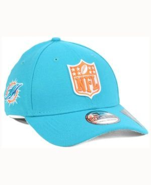 New Era Miami Dolphins Team Shield 39THIRTY Cap - Blue L/XL