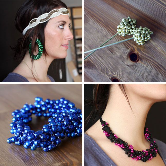 DIY Mardi Gras Accessories: Forget simply wearing beads around your neck, turn them into hoops, hair sticks, bracelets, and necklaces. (via Brit + Co.)