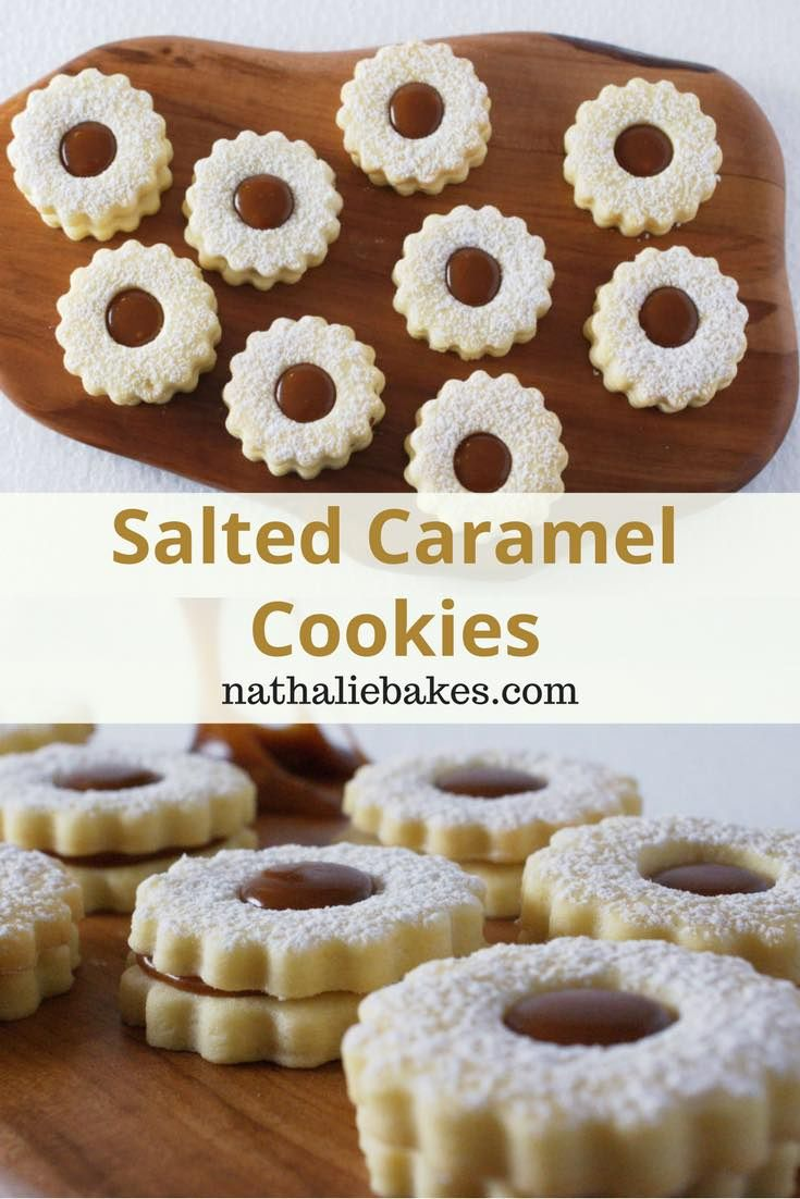 Salted caramel cookies recipe. A buttery shortbread cookie topped with a sticky salty caramel filling. Moreish and so delicious! A simple but effective recipe! #salted caramel | nathaliebakes.com