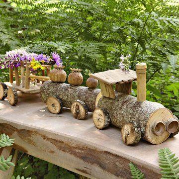 Construire un petit train en bois - Marie Claire Idées