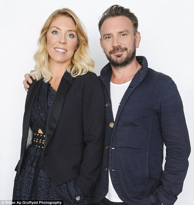 Sophie Long (pictured with her husband) describes how her husband Jonathan's hair loss affected their relationship, leading to him getting a £10,000 hair transplant
