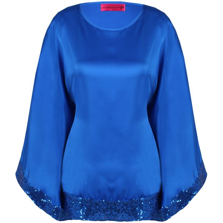 """Beautiful butterfly satin tops with sequins in 6 colours. Can be matched with skirts, pants or jeans. Free size S M L Price: S$25 Measurement (when laid flat): Length 27"""", Bust 20"""", Waist 22""""."""