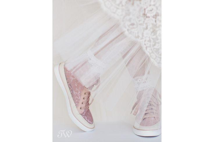 Shoe week   Wedding shoe inspiration   Pink lace sneakers from @ninewestcanada   Calgary wedding photographer