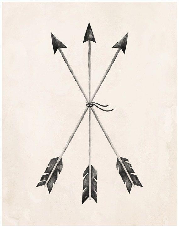 Arrows Art Print 8X10 11X14 by KelliMurrayArt on Etsy