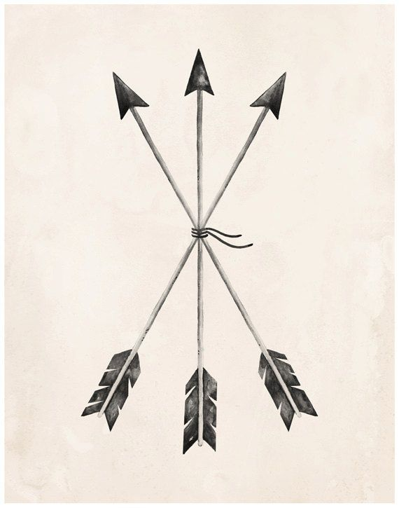 Arrows Art Print 8X10 11X14 by KelliMurrayArt on Etsy