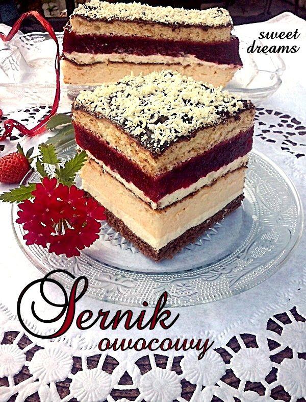 Layered Fruit Cheesecake | Sernik owocowy (in Polish)