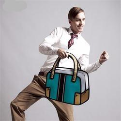 Men 's Anime Comic Hand Bag 2D Drawing Vintage Boys School Bags  Men's Tote Bags Cartoon Hand Bag