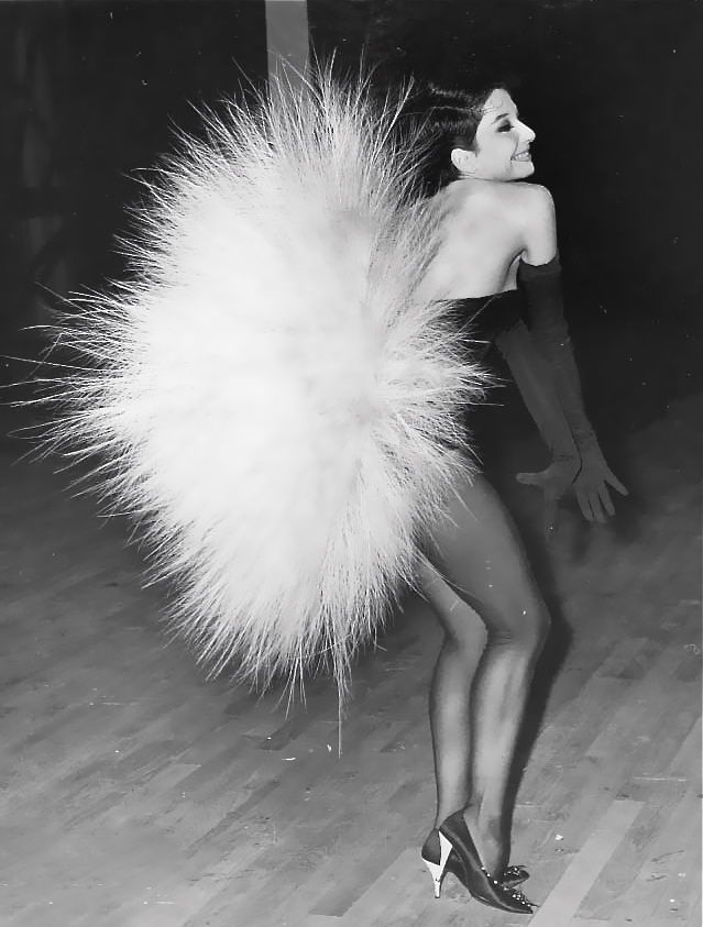 Zizi Jeanmaire with bunny tail - can't imagine getting on the bus with that.