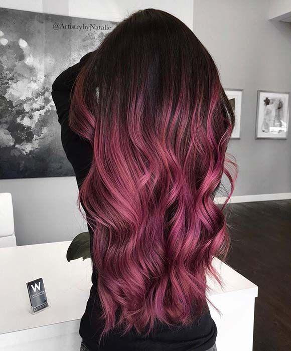 43 Burgundy Hair Color Ideas And Styles For 2019 Stayglam Burgundy Hair Ombre Burgundy Hair Light Burgundy Hair