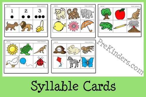 Syllable Cards for Literacy Activities  - Pinned by @PediaStaff – Please Visit  ht.ly/63sNt for all our pediatric therapy pins