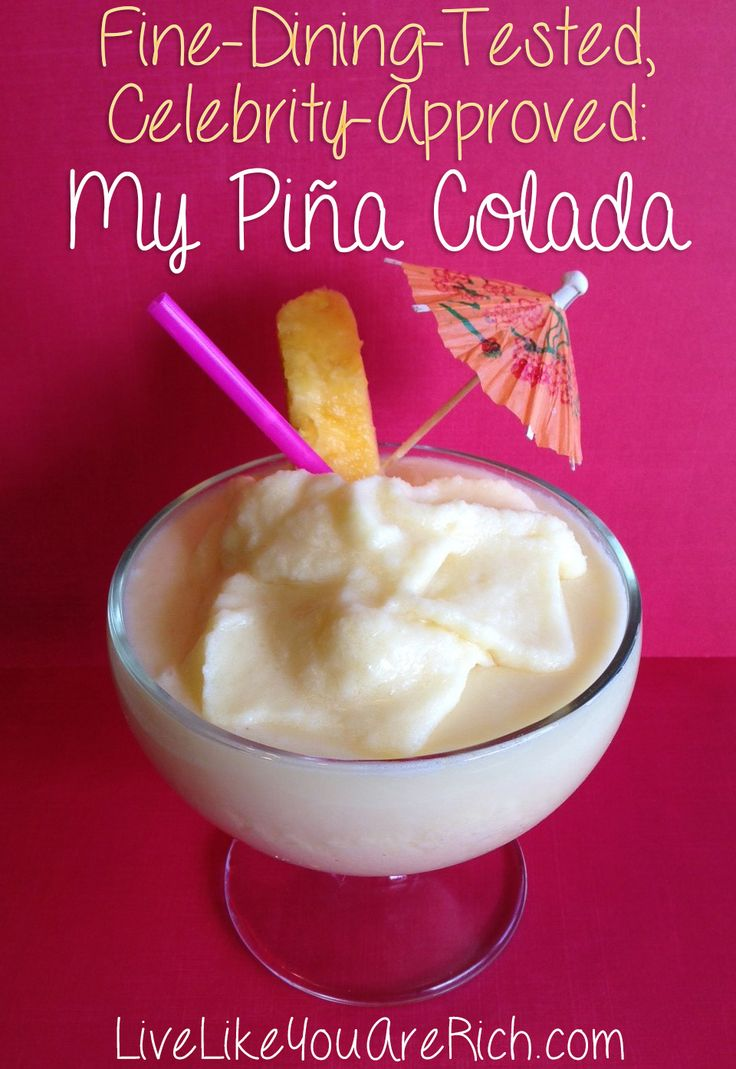 "Whenever I make this virgin Piña Colada everyone (including some celebrities) tell me that it is ""the BEST Piña Colada they have ever tasted"". The secret ingredient in this #PinaColada is..."