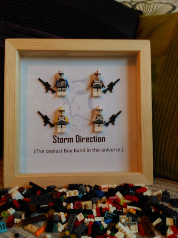 Handmade Brick Figure Art 'Storm Direction' by DanMakesWithLove