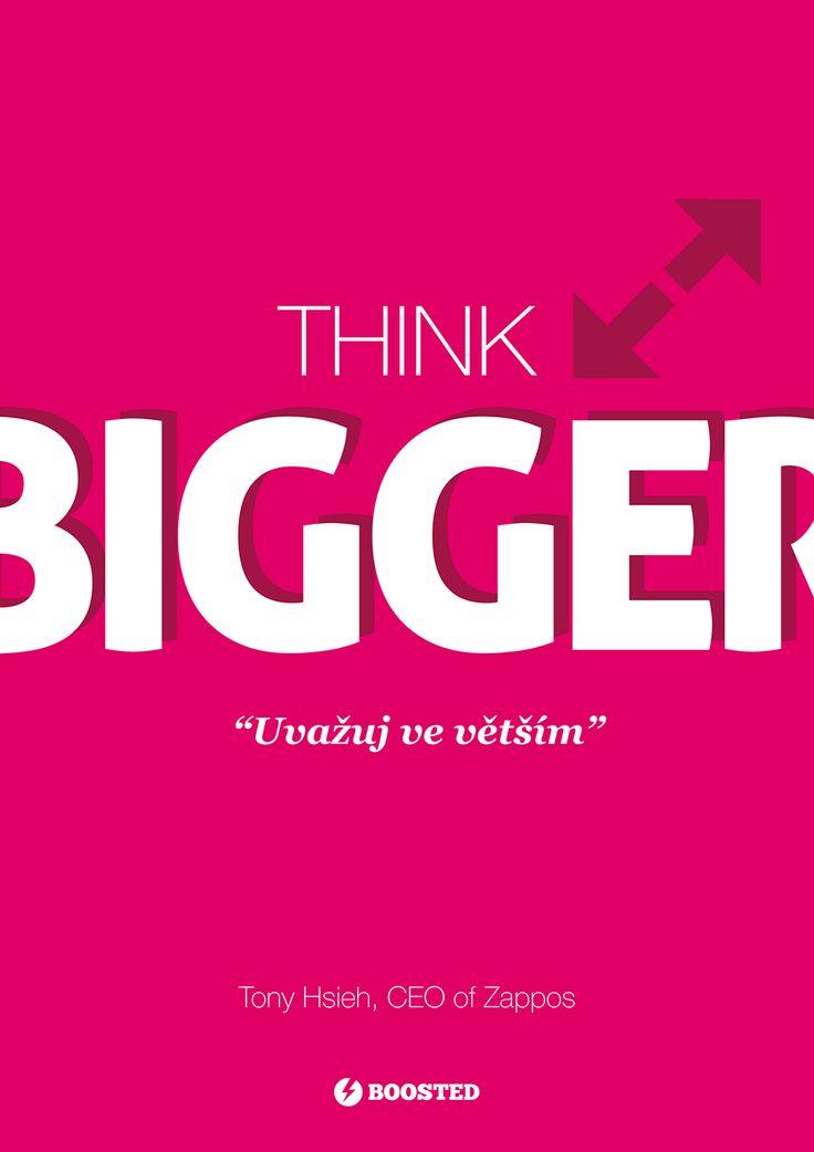 Motivační plakát Mysli ve větším (Anglicky/Česky)