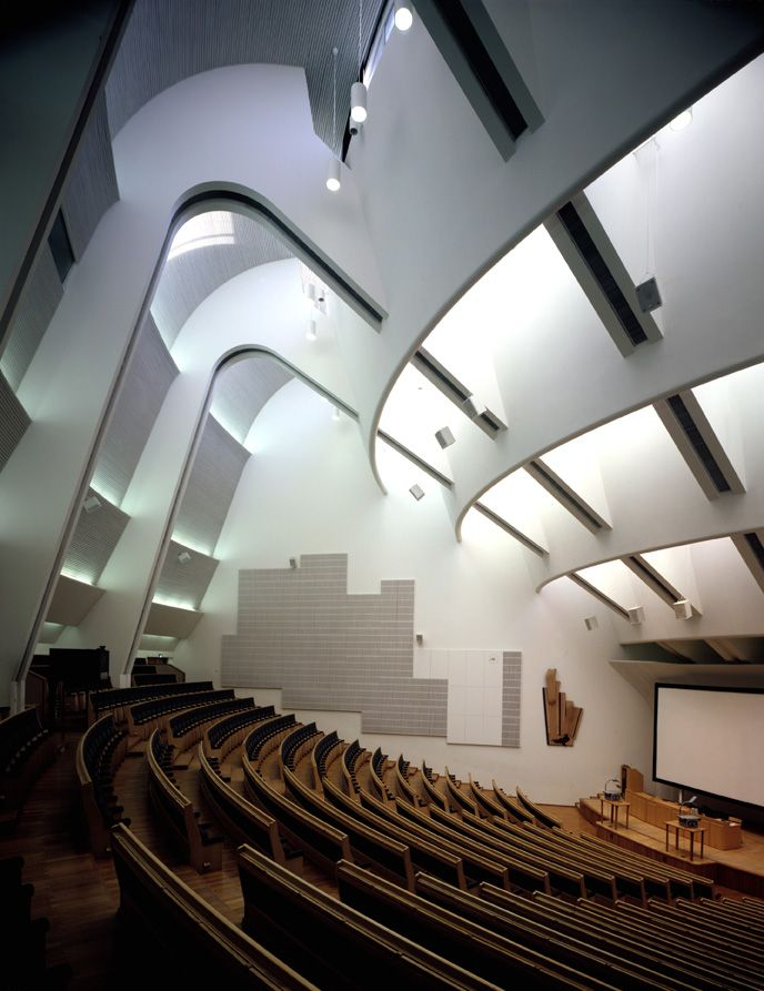 Alvar Aalto Auditorium Architecture. This is where I sat on lectures.