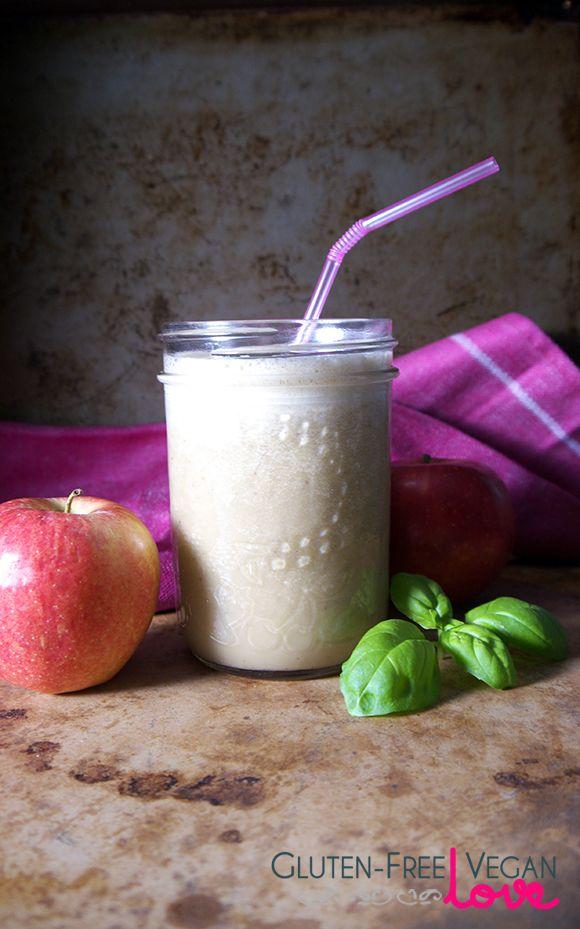 Apple Basil Vegan Smoothie l Gluten-Free Vegan Love